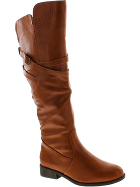 07cd6b92e8c Product Image Top Moda Womens Fay-3 Knee High Buckle Riding Boots