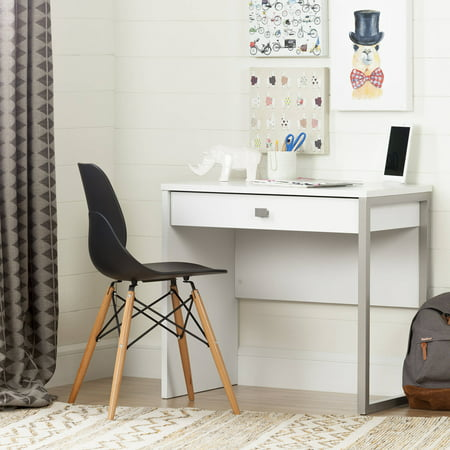 Drive Medical 20 Inch Desk - South Shore Interface Desk with 1 Drawer, White