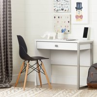 South Shore Interface Desk with 1 Drawer, White
