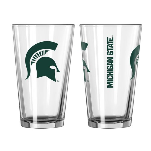 Boelter Brands NCAA 16-Ounce Game Day Pint Set, Michigan State Spartans, 2 Pack