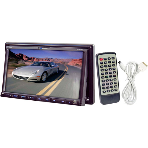 """Pyle 7"""" Touchscreen Multimedia Head Unit with DVD Player and iPod Control"""