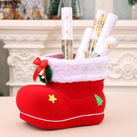Santa Boot Shoes Candy Stocking Extra Large Gift Box Decoration Present (Shoe Christmas Stocking)