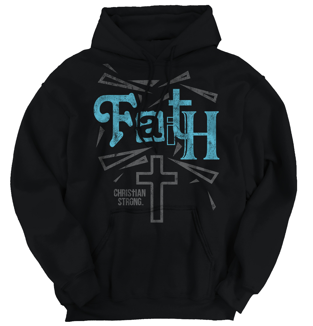 Christian Religious Hooded Sweatshirt Faith Cross Christ Jesus God by Christian Strong