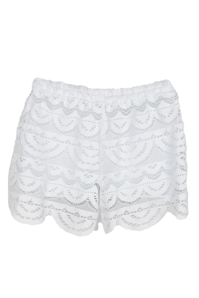 e97fbacfa4273 MikenSwim - Miken Swim White Crochet Scalloped Cover-Up Shorts S -  Walmart.com