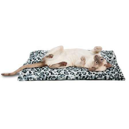 FurHaven Pet Heating Pad | ThermaNAP Faux Fur Self-Warming Cat Bed, Snow Leopard