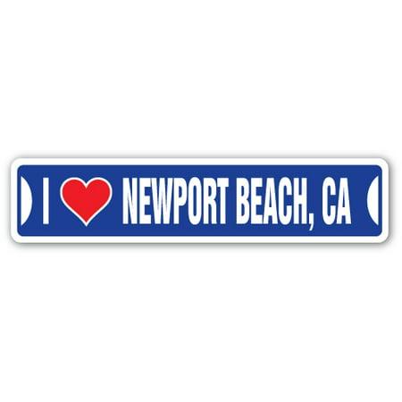 I LOVE NEWPORT BEACH, CALIFORNIA Street Sign ca city state us wall road décor