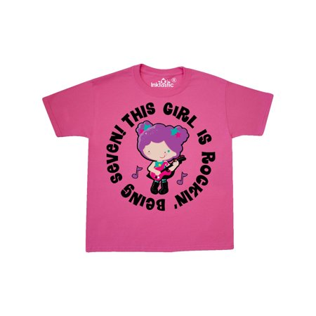 7th Birthday Party 7 Year Old Girl Youth T-Shirt