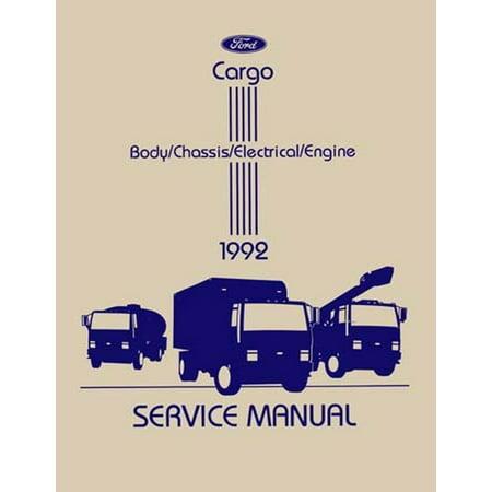 Bishko OEM Repair Maintenance Shop Manual Bound for Ford Truck Cargo 1992 ()