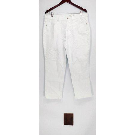 Denim & Co. Women's Petite Jeans 14P Studio Classic Denim White A304477 ()