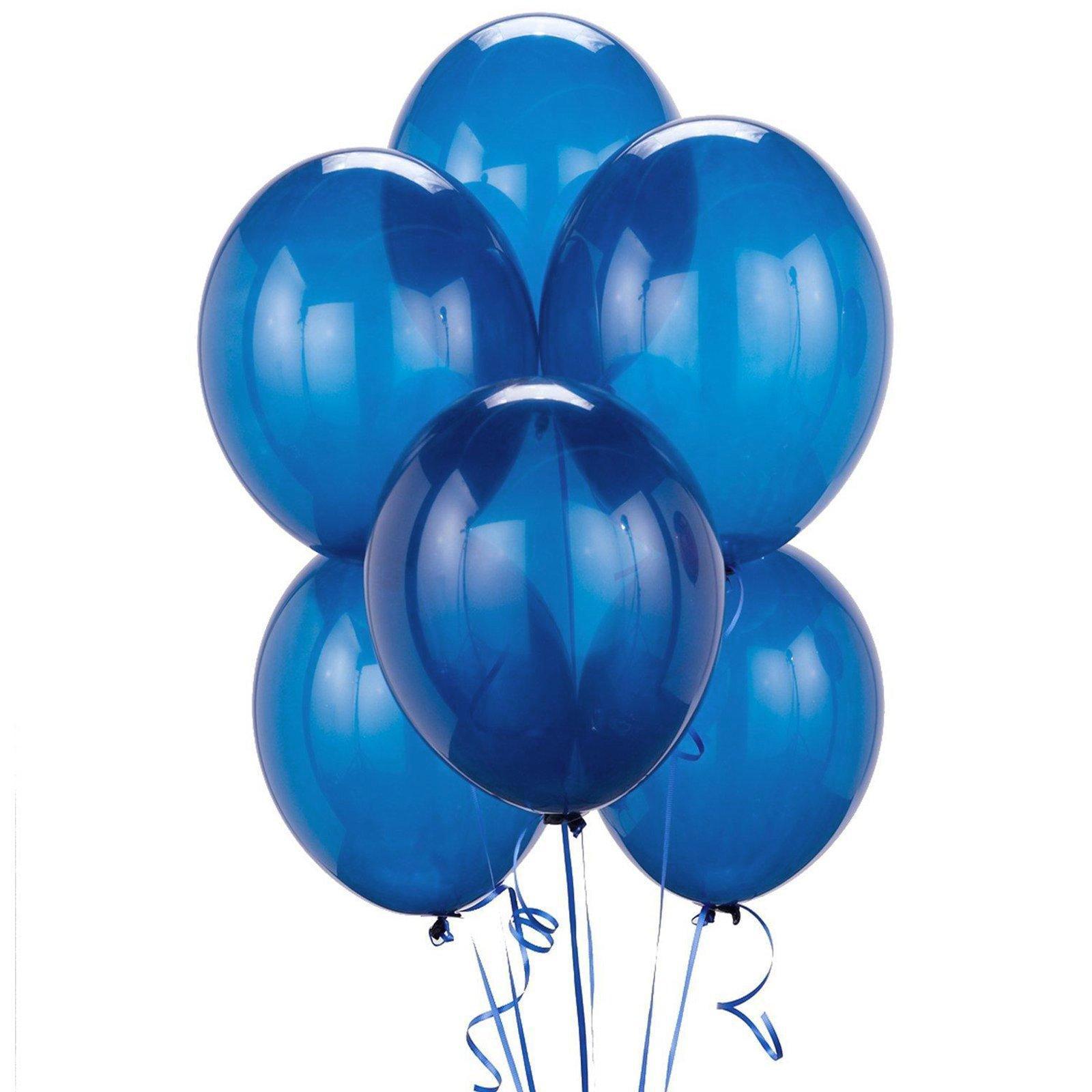 "Pioneer Balloon Solid 11"" Round Latex Balloons, Midnight Blue, Bulk 100 Pack"