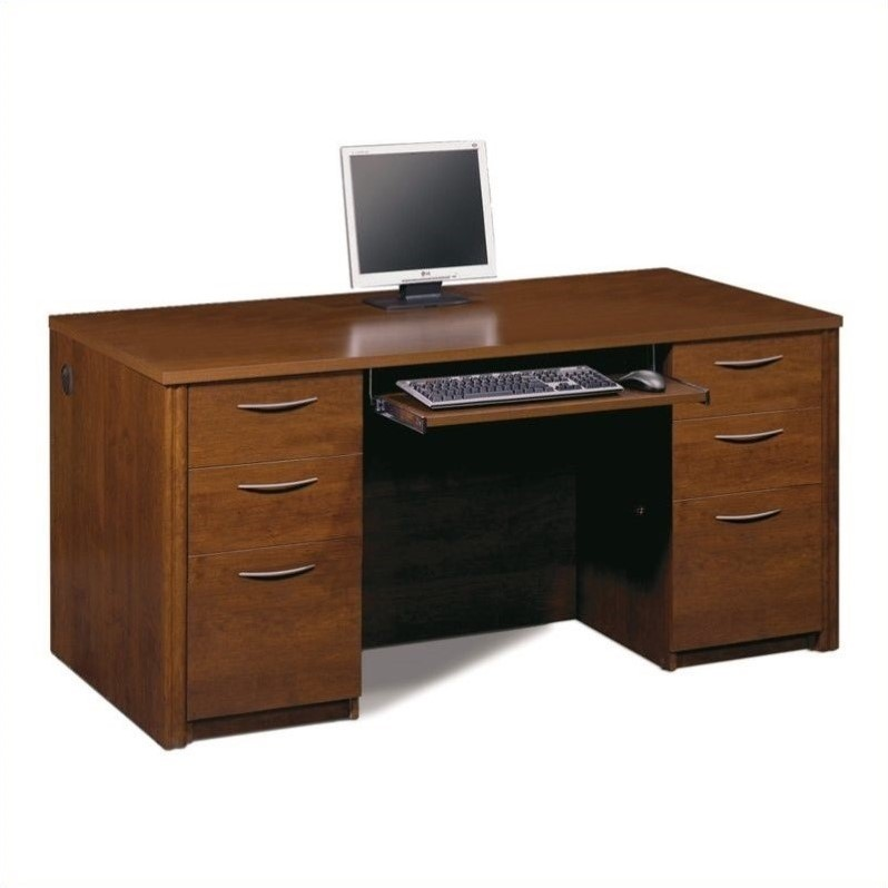 """Embassy 66"""" Executive desk kit in Tuscany Brown"""