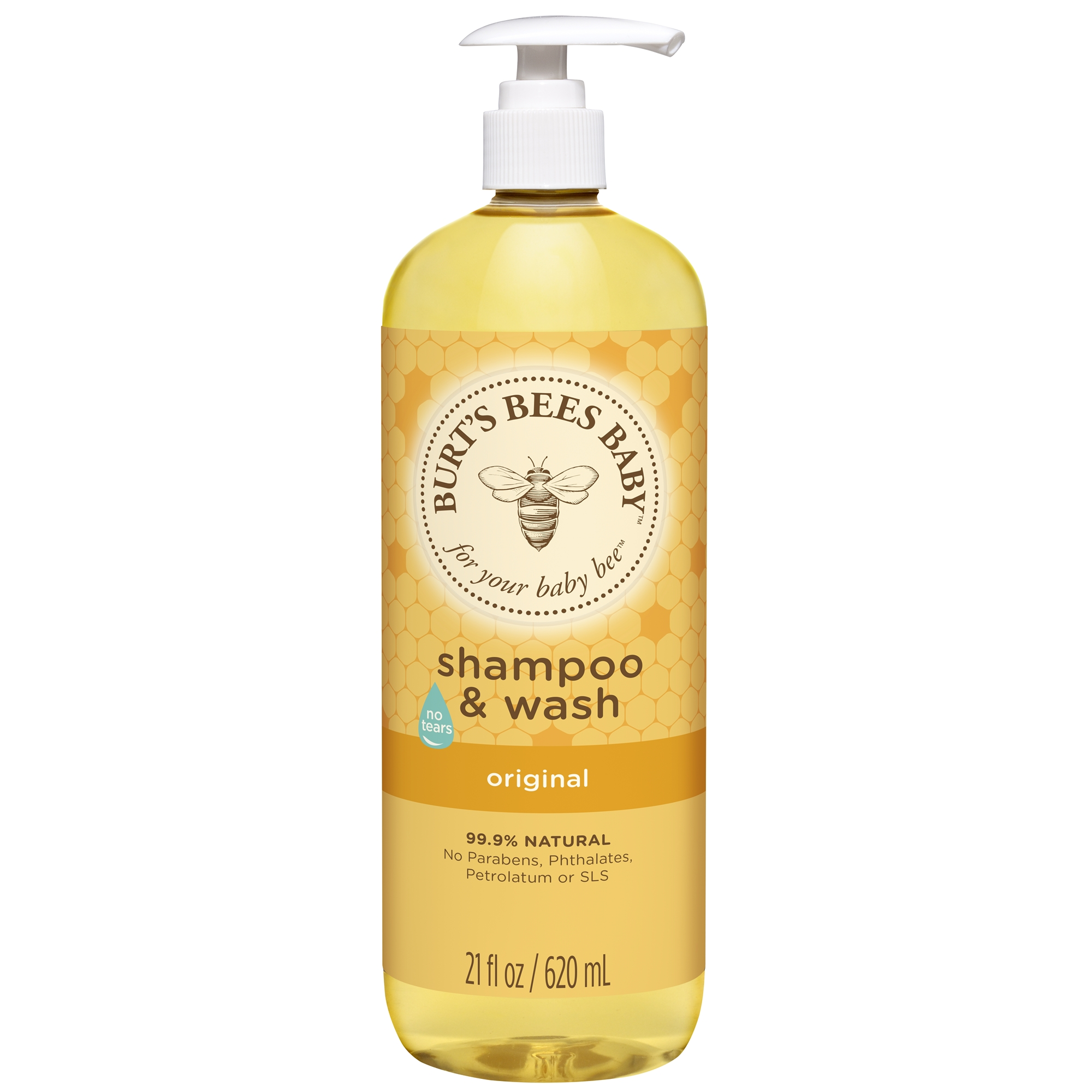Burt's Bees Baby Shampoo & Wash, Original Tear Free Baby Soap - 21 oz Bottle
