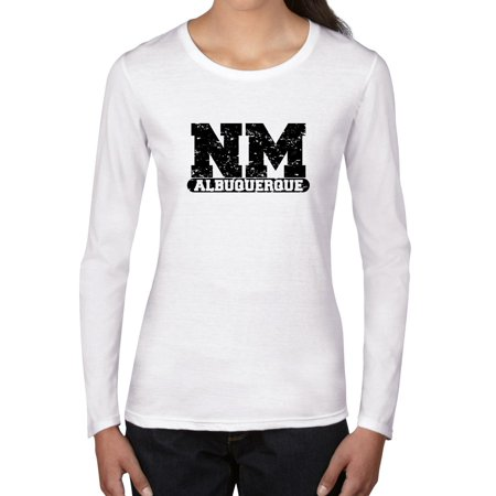 Albuquerque, New Mexico NM Classic City State Sign Women's Long Sleeve T-Shirt](Party City Albuquerque New Mexico)