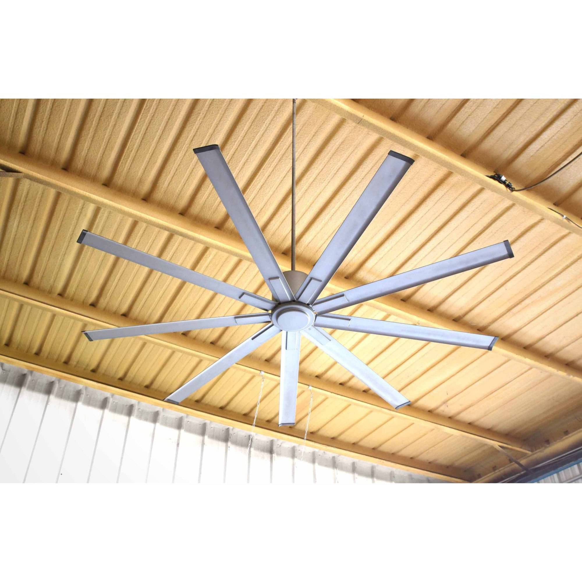"Big Air 96"" 6 Speed Industrial Ceiling Fan in Brushed Nickel"