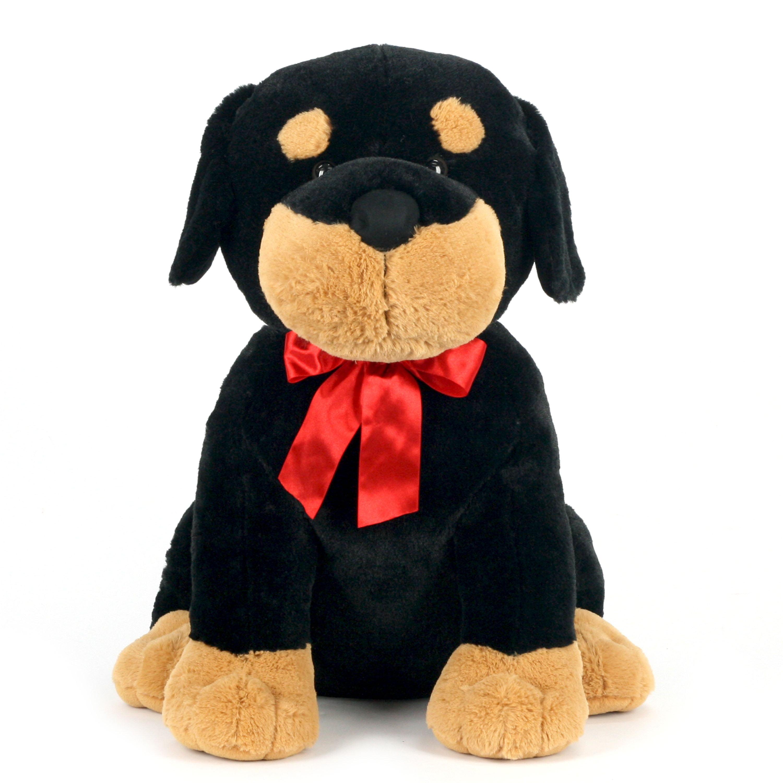 "Way to Celebrate 24"" XL Sitting Puppy Plush Toy, Rottweiler"