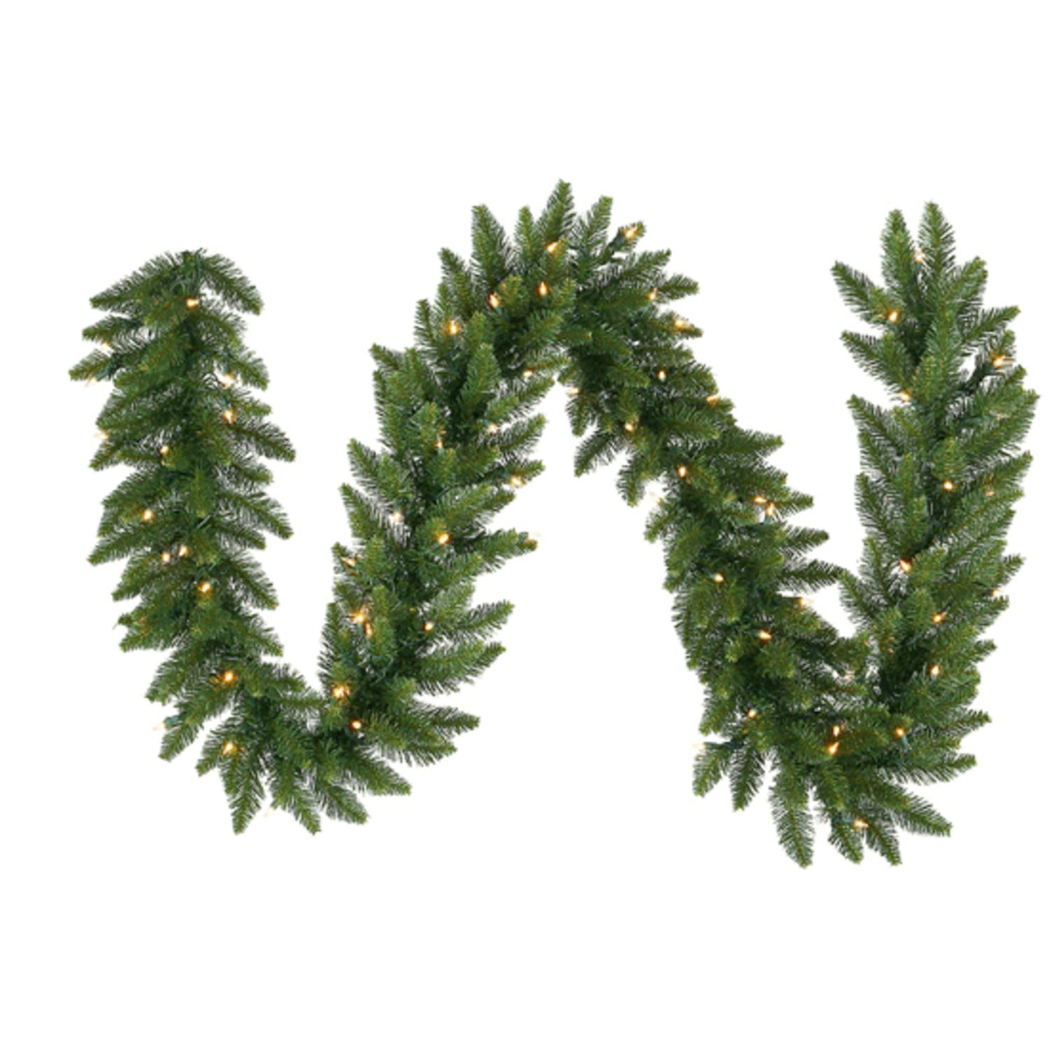 "9' x 14"" Pre-Lit Camdon Fir Artificial Christmas Garland ��� Clear Lights"