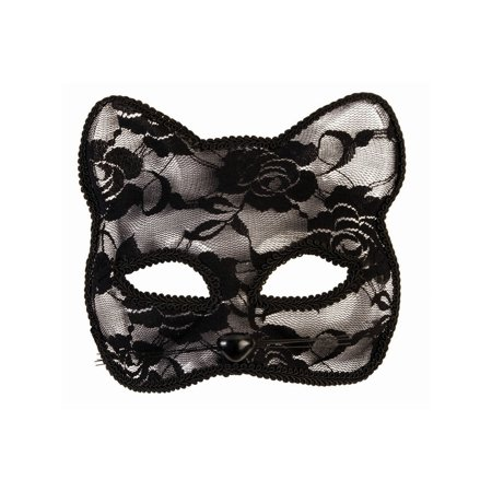 Halloween Lace Cat Mask - Black](Halloween Mask Cat)
