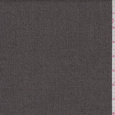 Belted Textured Wool Blend - Taupe/Black Textured Wool Blend Suiting, Fabric By the Yard