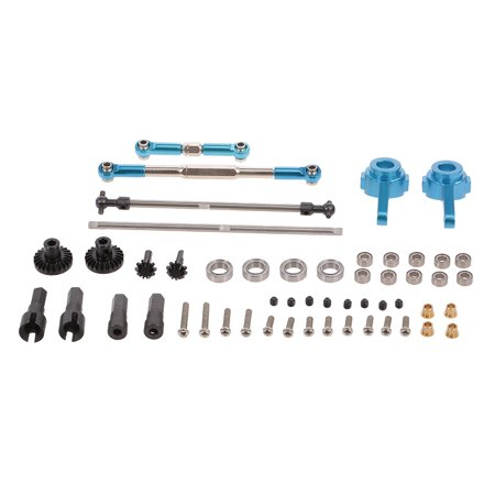 WPL Parts Set Front and Rear Gear Driver Shaft Pull Rod Steering Hub for WPL C14 C24 B14 B24 B16 B36 RC (Rear Power Truck Set)
