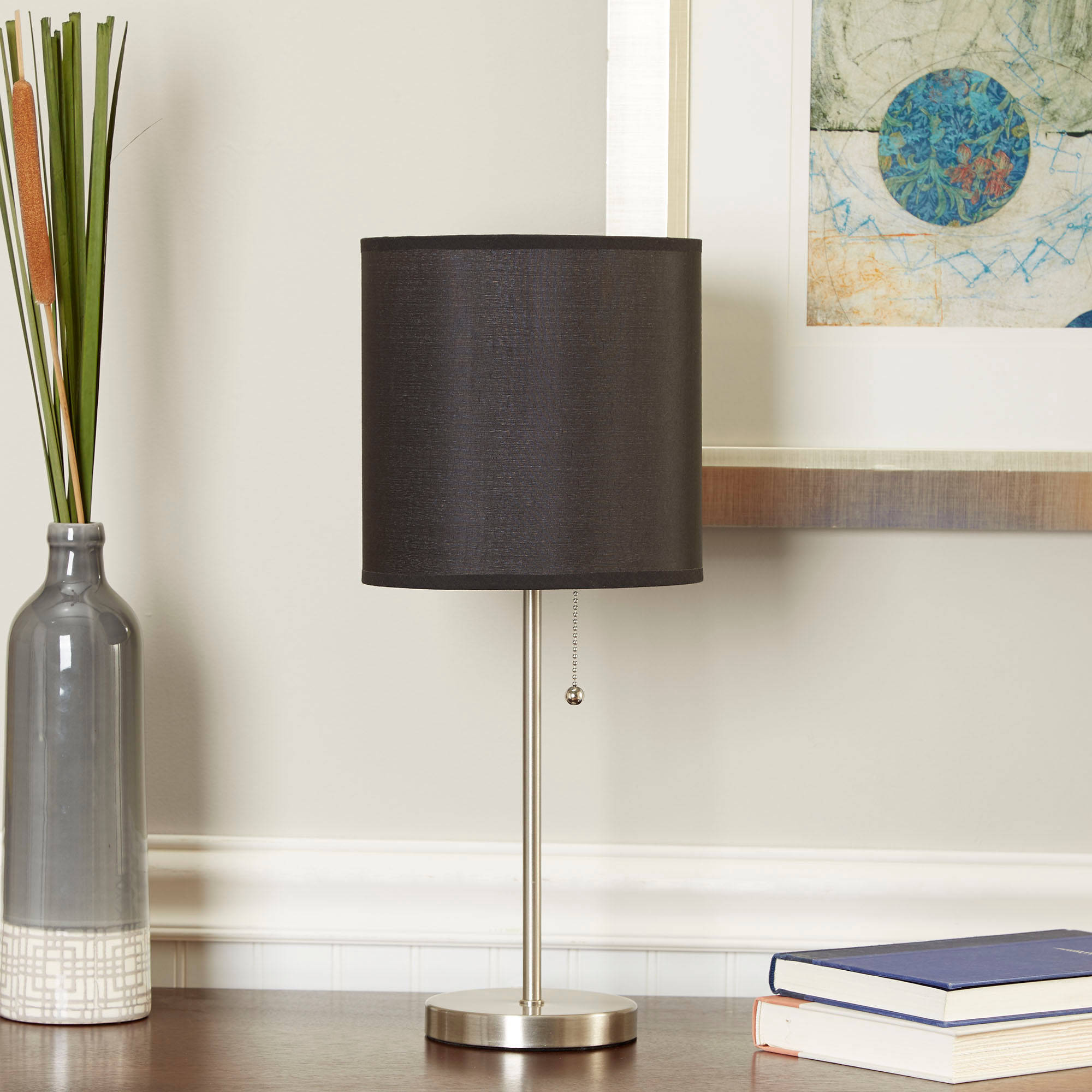 Mainstays Stick Table Lamp with Shade, CFL Bulb Included - Walmart.com