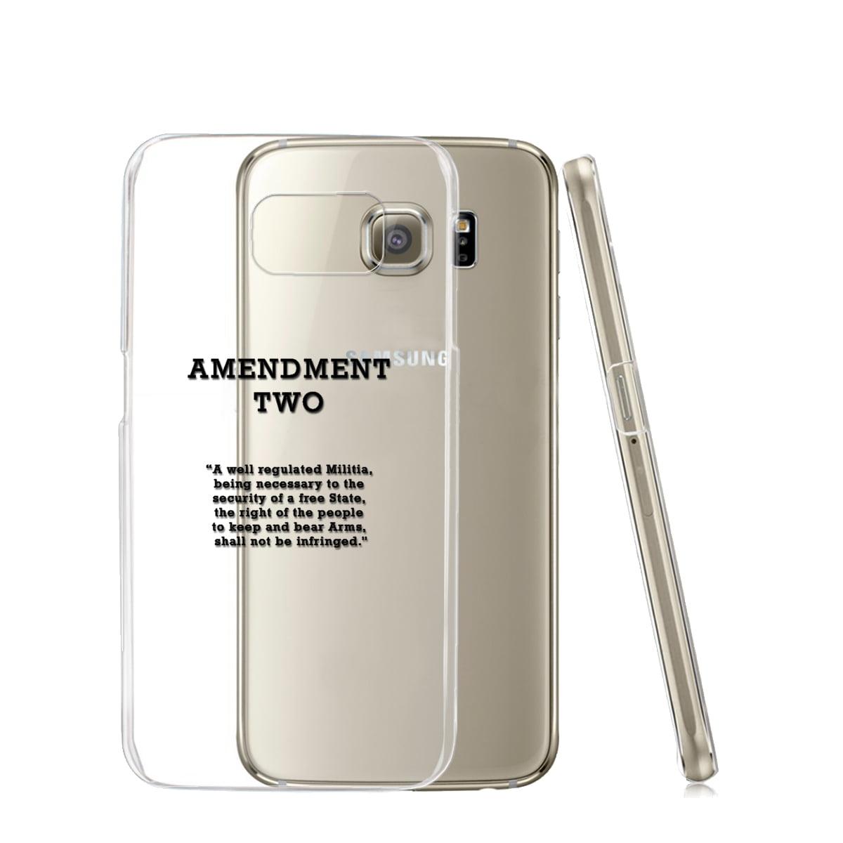 KuzmarK™ Samsung Galaxy S6 Edge Clear Cover Case - Amendment Two
