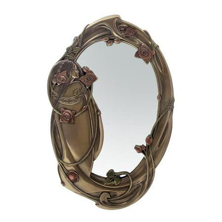 Rose And Lady Mirror - Art Nouveau & Art Deco. Art Deco Mirrored Furniture