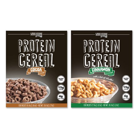 Protein Cereal, Low Carb Cereal, Cocoa & Cinnamon Bundle Pack, Wholesome Provisions (Low Carb Cereal)
