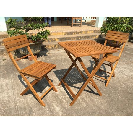 Exaco 3 Piece Wood Patio Balcony/Bistro Set ()