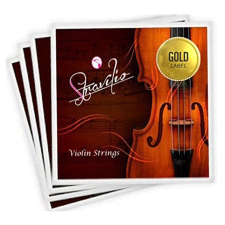 Full Set of Violin Strings Size 4/4 & 3/4 - G D A & E Concert Grade (Gold Label (Suzuki Style Violin String)