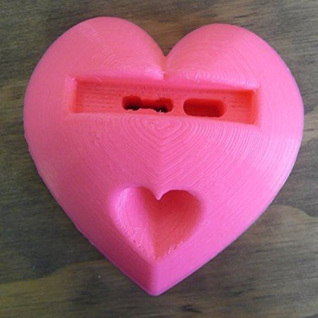 Small Heart Shaped Sound Amplifier Speaker Cell Phone Holder Universal Mount 3D Printed