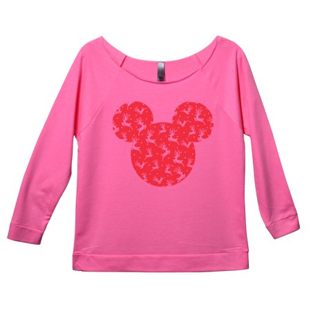 "Womens Christmas Disney 3/4 Sleeve ""Mickey Mouse"