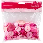 Papermania Buttons Assorted 250g-Pink