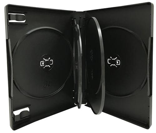 CheckOutStore 300 Black 5 Disc DVD Cases /w Patented M-Lo...