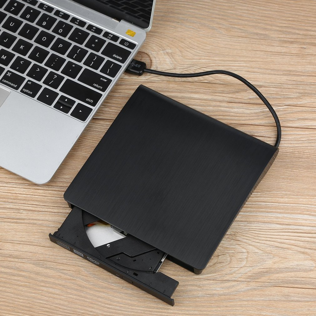 Professional Slim, Compact & Lightweight External Drive USB 3.0 Writer Player for PC Laptop Notebook CD DVD Player Drive