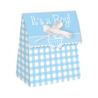 It's a Boy Gingham Favor Bags, 12 pk