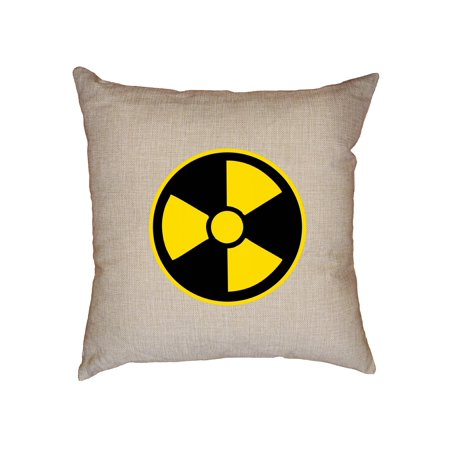 Nuclear - Radioactive Warning! Atomic Symbol - Cool Decorative Linen Throw Cushion Pillow Case with Insert