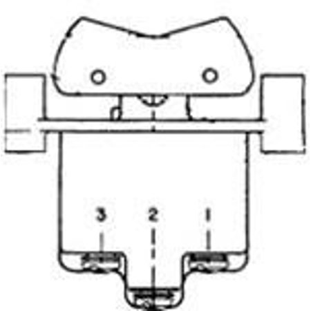 (2TP12-2 MICRO SWITCH Toggle Switches: TL Series, Double Pole Double Throw (DPDT) 2 Position (On - On), Screw)