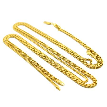 Fashion Jewelry Bone (Necklace Gold Silver Fashion Jewelry For Men 5mm Snake Bone Necklace Gold )