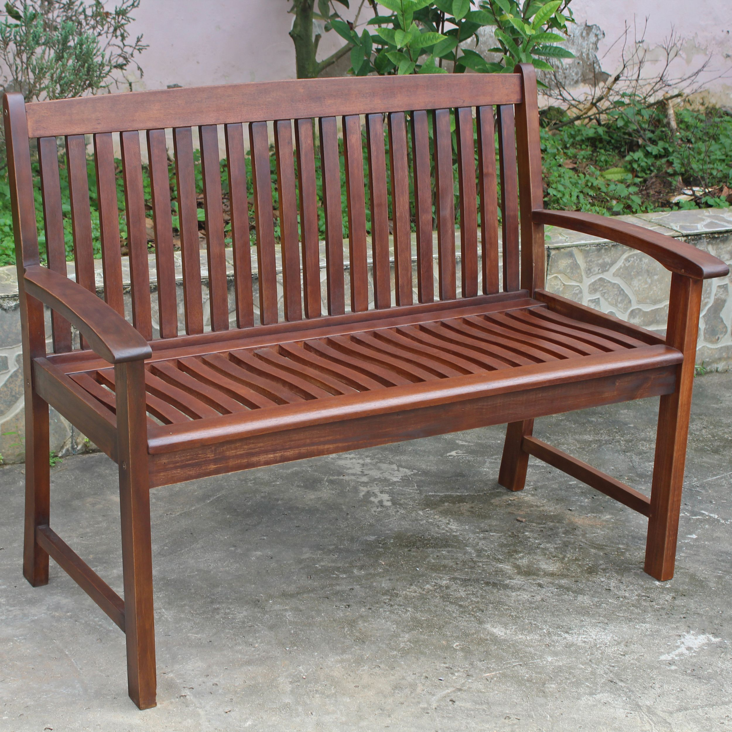 Highland Acacia Hudson Two-seater Park Bench