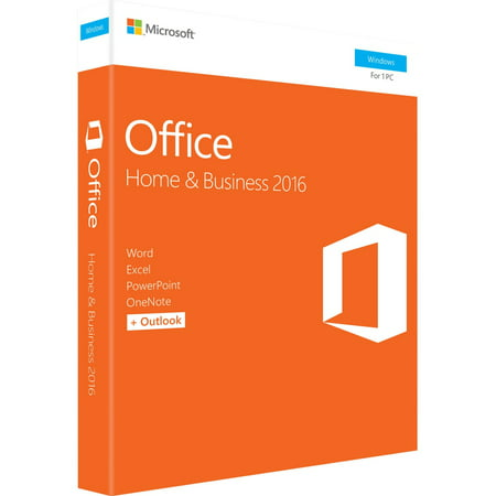 Microsoft Office Home & Business 2016 for Windows (1-User License / Product Key Code / (Microsoft Office Professional Plus 2016 Product Key)