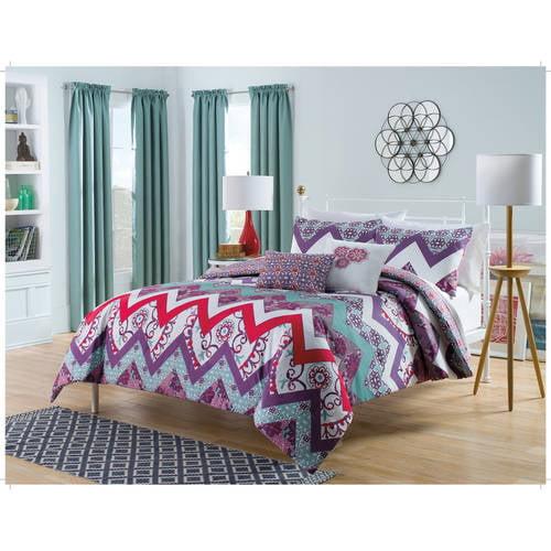 Ellery Homestyles Studio Harmony At Home Bohemia 5 - Piece Reversible Bedding Comforter Set