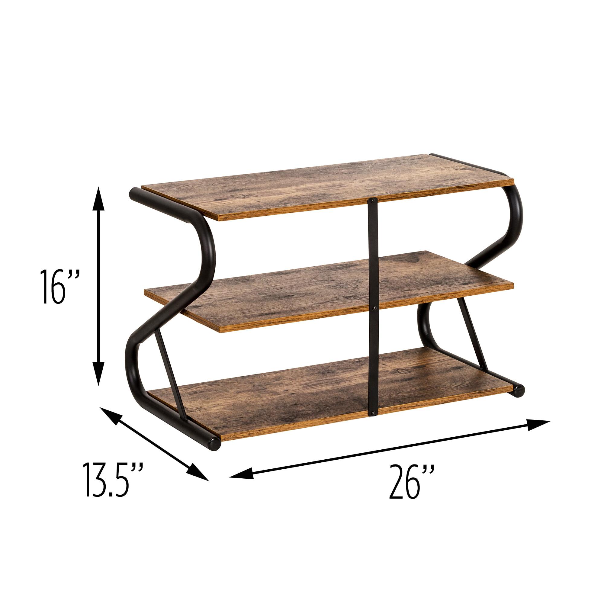 Rustic Z-Frame 3-Level Shoe Rack
