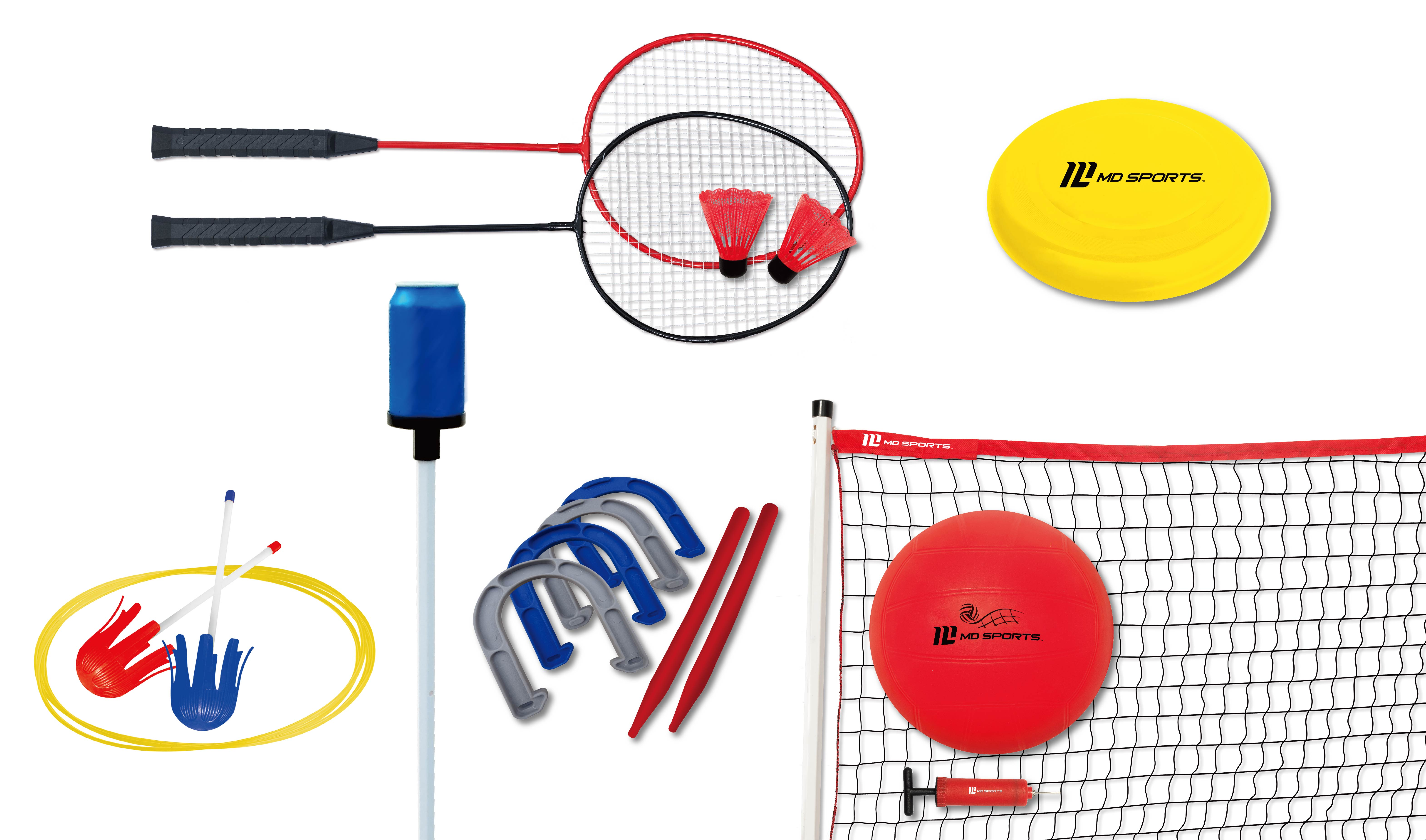 MD Sports 6 In 1 Backyard Game Combo Set