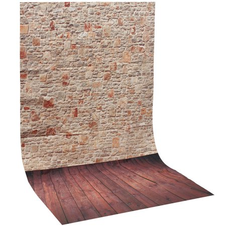Jeteven 3X5FT Vinyl Photography Background Screen Studio Photo Props Thin Backdrop Wood Grain Brick Wall