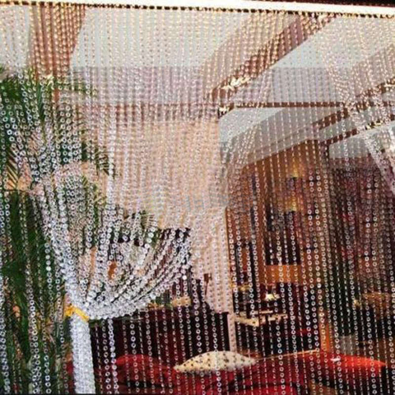 Intbuying 99FT Garland Diamond Strand Acrylic Crystal Bead Curtain Wedding DIY Party Decor #241046