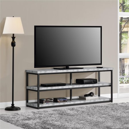 Portable Concrete Stand (Ameriwood Home Ashlar TV Stand for TVs up to 65