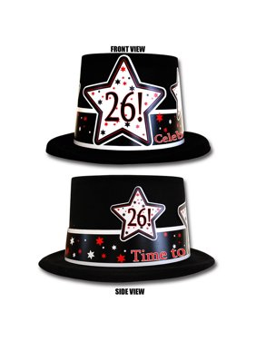Partypro TQP-3951 26Th Birthday Time To Celebrate Top Hat