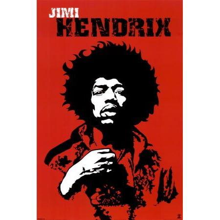 Hendrix Art (Jimi Hendrix Poster Amazing Pop Art New)