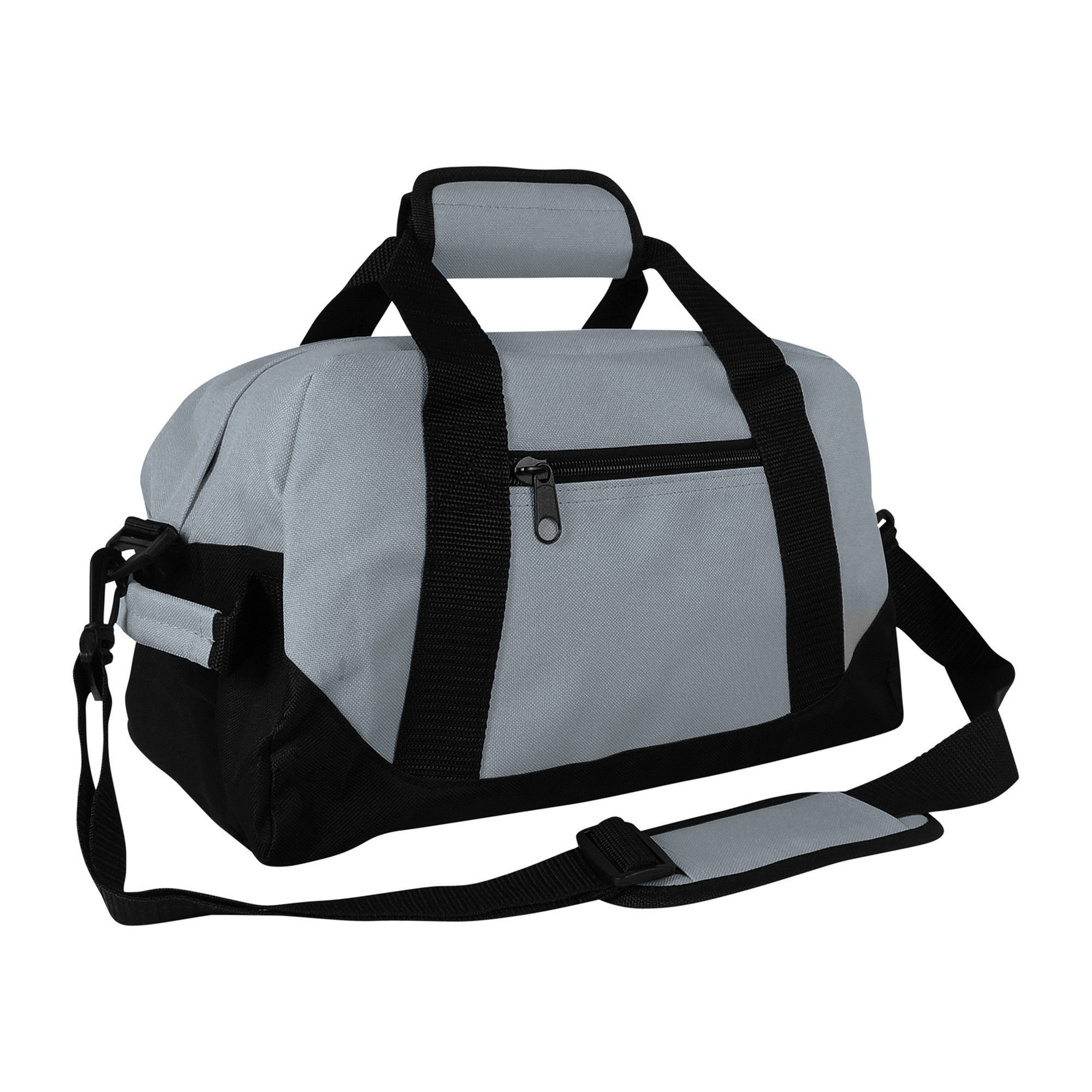 Dalix 14 Small Duffel Bag Gym Duffle Two Tone In Gray With Shoulder Strap