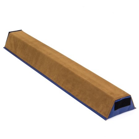 Best Choice Products 4ft Foam Gymnastics Sectional Floor Practice Balance Beam Equipment Gear for Tumbling, Gym, Home w/ Hook & Loop Attachments - Brown